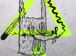 Original Art by Spencer Keeton Cunningham - Rabbit Dog With Arrow