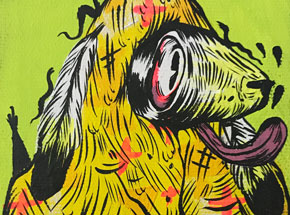 Original Art by Spencer Keeton Cunningham - Yellow Dog