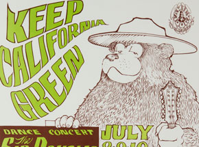 Art by Stanley Mouse - Keep California Green