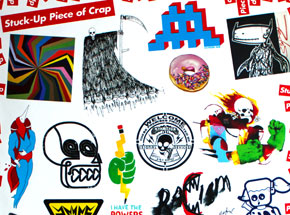 Art by DB Burkeman - STUCK-UP Kiss-Cut Sticker/Print