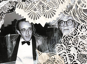 Art Print by Swoon - Honoring Our Foregoers & Their Idols - Keith Haring & His Idol Andy Warhol. NYC. 1986