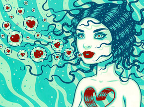 Art Print by Tara McPherson - Drift - Hand-Embellished Edition