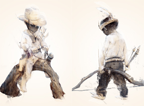 Art Print by Taylor White - Cowboys & Indians - 2 Print Set