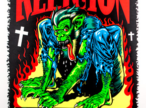 Art by Jim Evans / Taz - Bad Religion - September 10th and 11th at The Hollywood Palladium