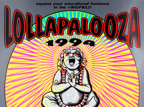 Art by Jim Evans / Taz - Lollapalooza - September 4th & 5th, 1994