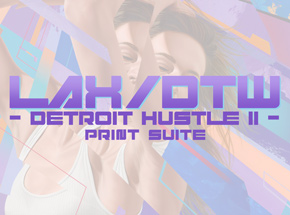 Art Collection by 1xRUN Presents - LAX/DTW Detroit Hustle II Print Suite