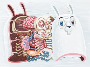 Art Print by Nychos - Dissection Of The White Rabbit