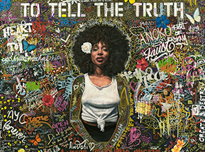 Art Print by Tim Okamura - To Tell The Truth - 18 x 19 Inch Edition