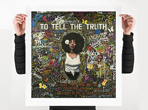 Art Print by Tim Okamura - To Tell The Truth - 24 x 25 Inch Edition