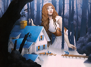 Art Print by Tran Nguyen - The Riverbed Nightingale