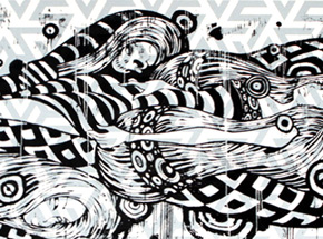 Art by Tristan Eaton - Sleeping Beauty - Black Edition - Framed