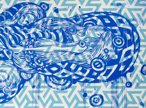 Art by Tristan Eaton - Sleeping Beauty - Blue Edition - Framed