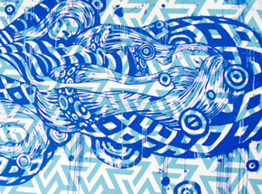 Art Print by Tristan Eaton - Sleeping Beauty - Blue Edition