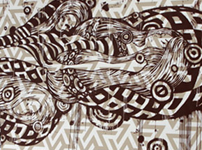 Art Print by Tristan Eaton - Sleeping Beauty - Brown Edition
