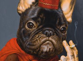 Art Print by Turf One - Le Chien Qui Fume - Standard Edition