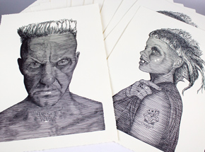 Art Print by Tyler B Murphy - Pretty Wise & Chappie - 2 Print Set