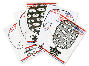Original Art by UFO 907 - UFO Postal Slaps - 5 Pack
