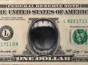 Original Art by Van Saro - Dollar 3 - In Greed We Trust - Original Artwork