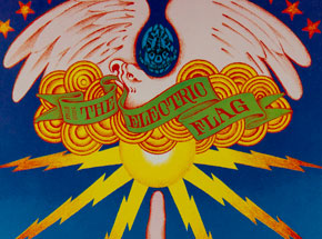 Art by Victor Moscoso - The Electric Flag at Avalon Ballroom - February 1966