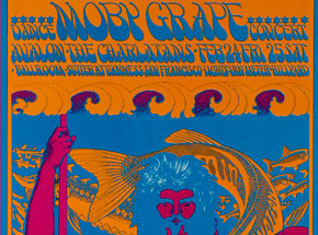 Art by Victor Moscoso - Moby Grape Dance Concert at Avalon Ballroom - February 1967