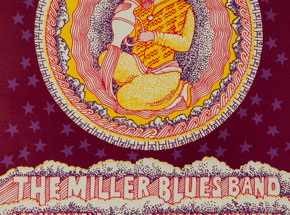 Art by Victor Moscoso - The Miller Blues Band at Avalon Ballroom - January 1967