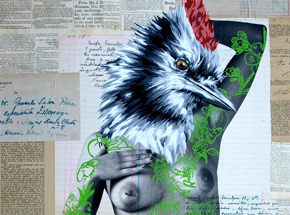 Hand-painted Multiple by Vinz - The Tattooed Girl - Especial Edition 03 - Mixed Media Multiple