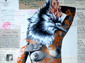 Hand-painted Multiple by Vinz - The Tattooed Girl - Especial Edition 04 - Mixed Media Multiple