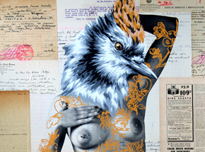 Hand-painted Multiple by Vinz - The Tattooed Girl - Especial Edition 05 - Mixed Media Multiple