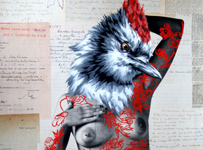 Hand-painted Multiple by Vinz - The Tattooed Girl - Especial Edition 06 - Mixed Media Multiple