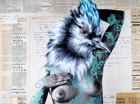 Hand-painted Multiple by Vinz - The Tattooed Girl - Especial Edition 07 - Mixed Media Multiple