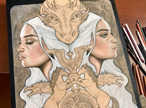 Art by Wendy Ortiz - Game Of Thrones - Series Finale Limited Edition Print