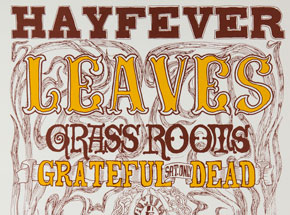 Art by Wes Wilson - Hayfever - Grass Roots, Grateful Dead