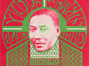 Art Print by Wes Wilson - Muddy Waters Blues Band - Fillmore - 1966