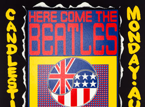 Art by Wes Wilson - Here Come The Beatles