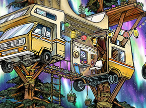 Art Print by Wooden Wave - Vanagon Treehouse