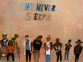 Art Print by Yarrow Slaps - City Never Sleeps