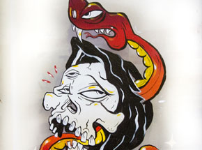 Original Art by Sheryo & The Yok - Reaper Snake