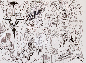 Original Art by Sheryo & The Yok - Tattoo Flash Sheet 15