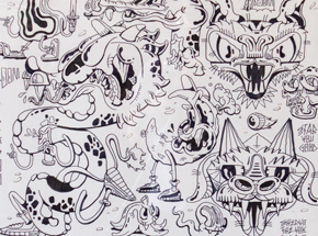 Original Art by Sheryo & The Yok - Tattoo Flash Sheet 03