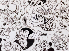Original Art by Sheryo & The Yok - Tattoo Flash Sheet 09