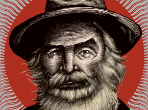 Art Print by Zeb Love - Walt Whitman - Red Variant