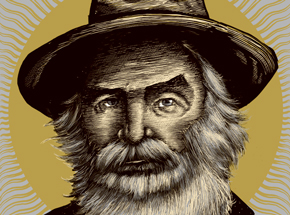 Art Print by Zeb Love - Walt Whitman - Wood Variant