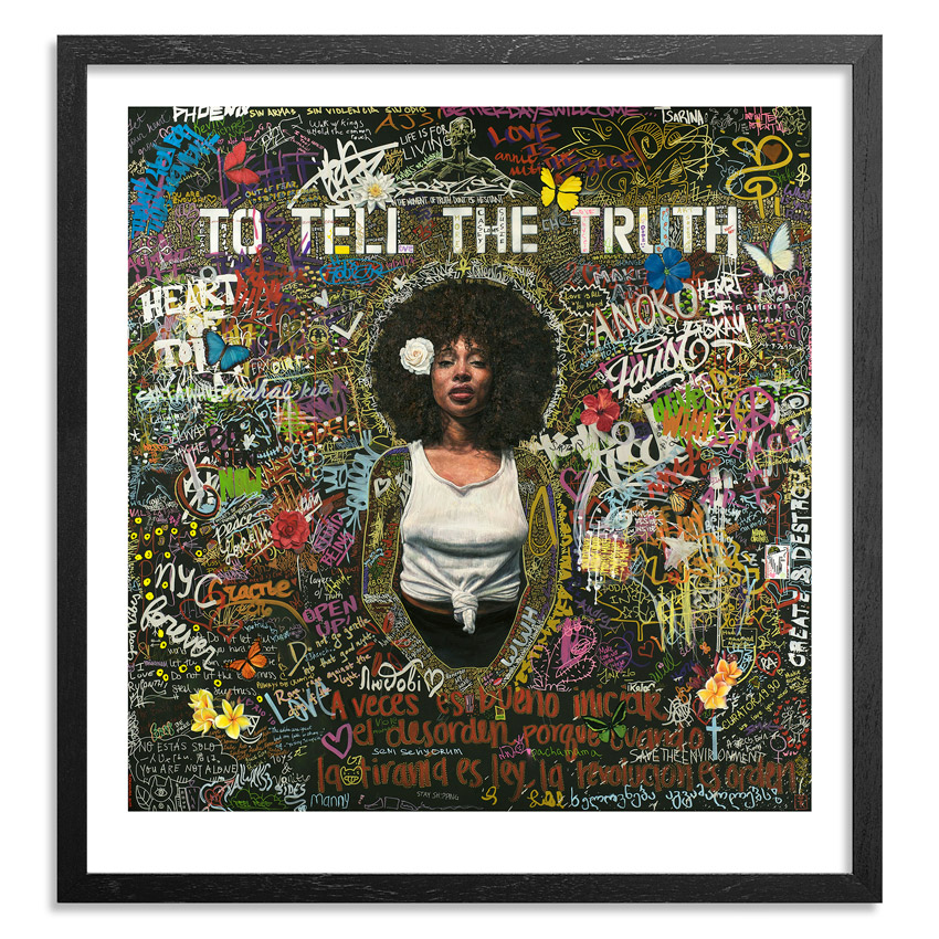 Tim Okamura Art Print - To Tell The Truth - 18 x 19 Inch Edition