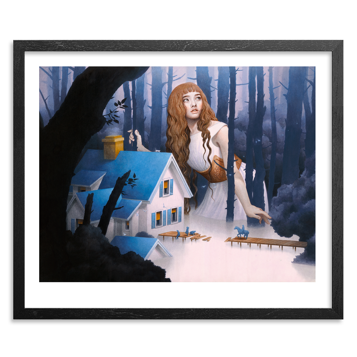 Tran Nguyen Art Print - The Riverbed Nightingale
