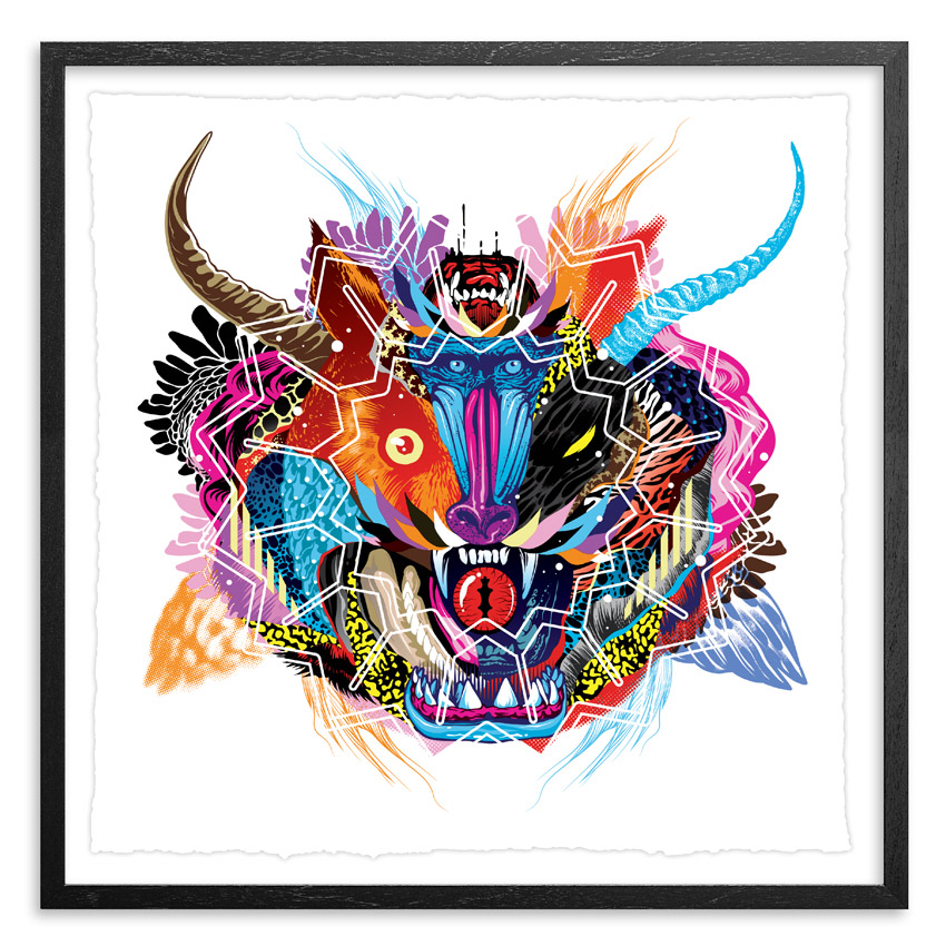 Tristan Eaton Art - Battle Cry - Framed