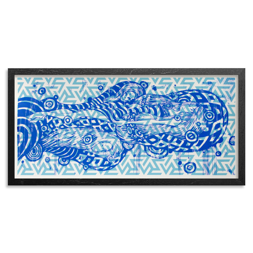Tristan Eaton Art - Sleeping Beauty - Blue Edition - Framed