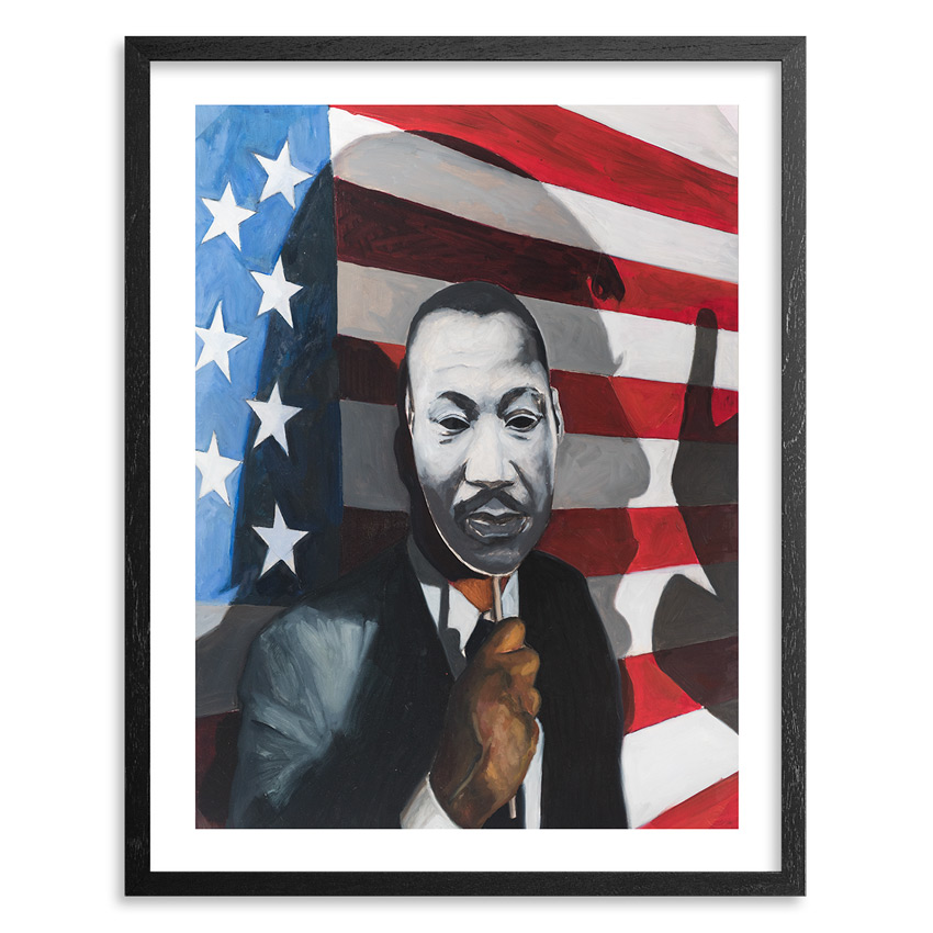 Tylonn J. Sawyer Art Print - King's Dream In The Shadow Of Trump's America