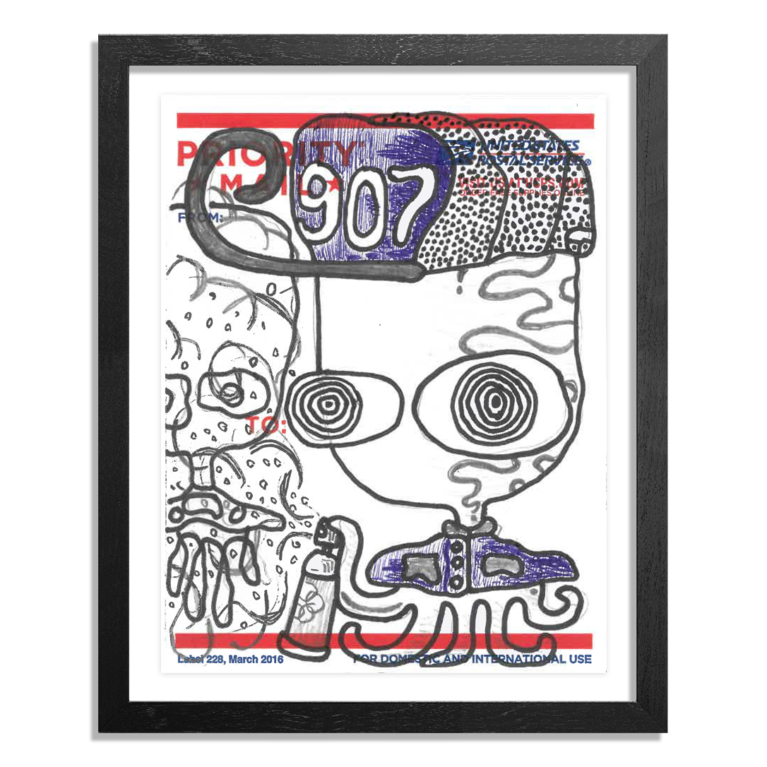 UFO 907 Original Art - Postal Slap - 123