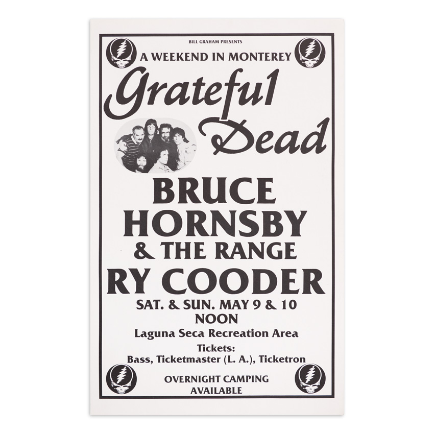Artist Unknown Art Print - Grateful Dead - A Weekend In Monterey - 1987 - Black and White Variant