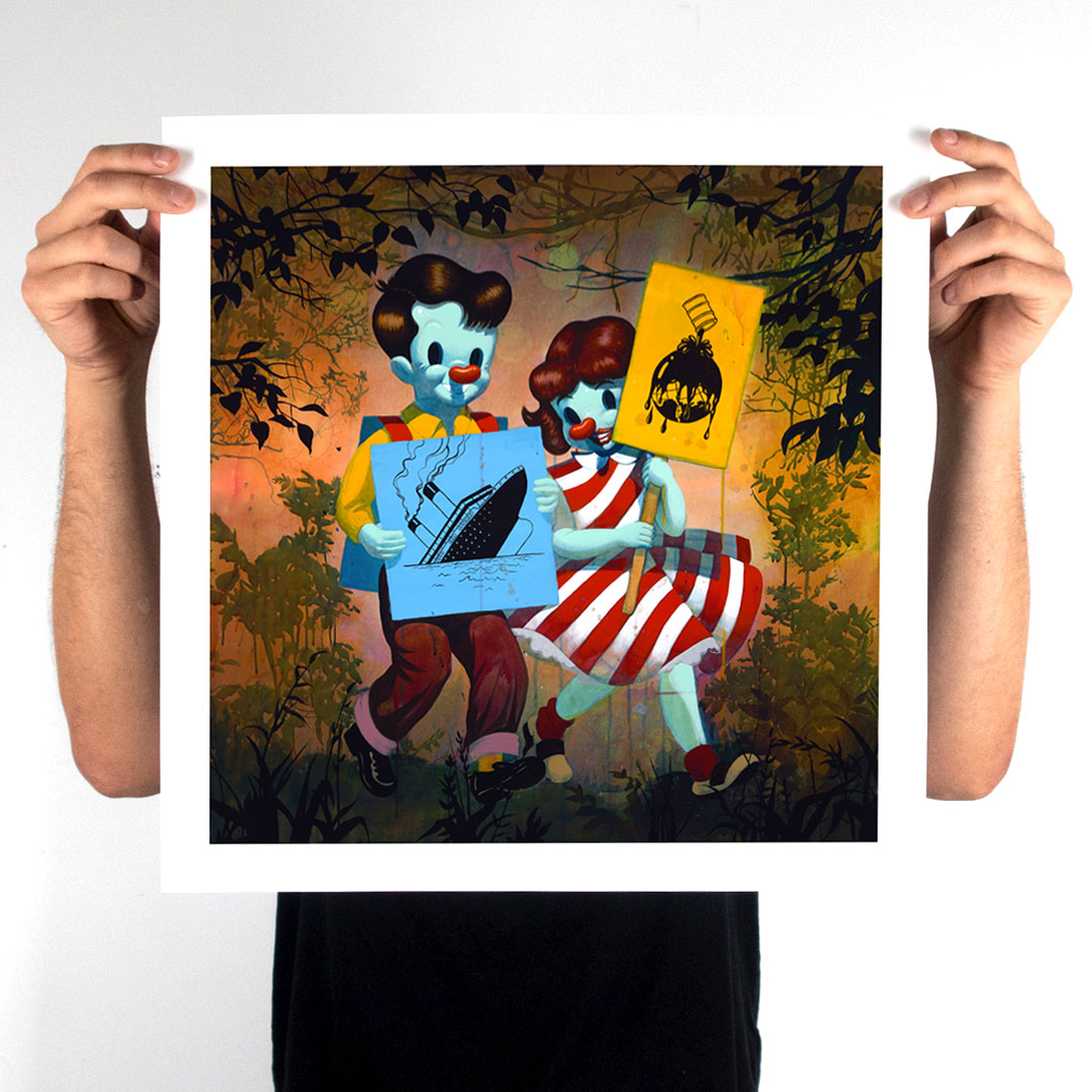 Victor Castillo Art Print - They Do Not Own Us  - 18 x 18 Inch Edition
